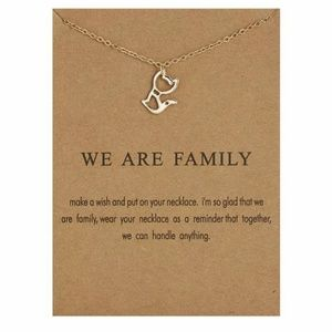 Jewelry - We Are Family Cute Kitty Cat Pendant